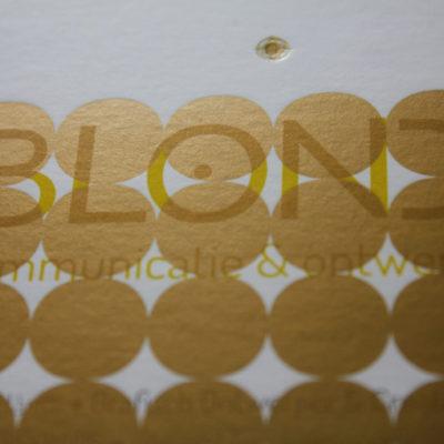 drukwerk voor Blond